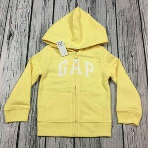 Gap Girls 2T 3T 4T 5T Yellow Hoodie Sweatshirt